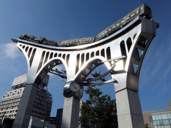 米子駅 銀河鉄道オブジェ